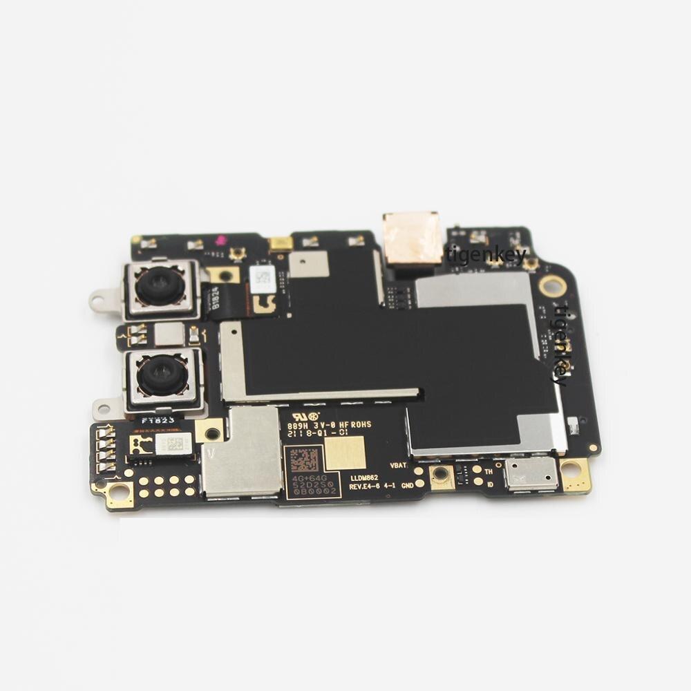 Tigenkey For Xiaomi A2 4+ 64GB Motherboard 100% Unlocked Original 64GB For Xiaomi A2 Mi A2 Logic Board Mainboard Android One