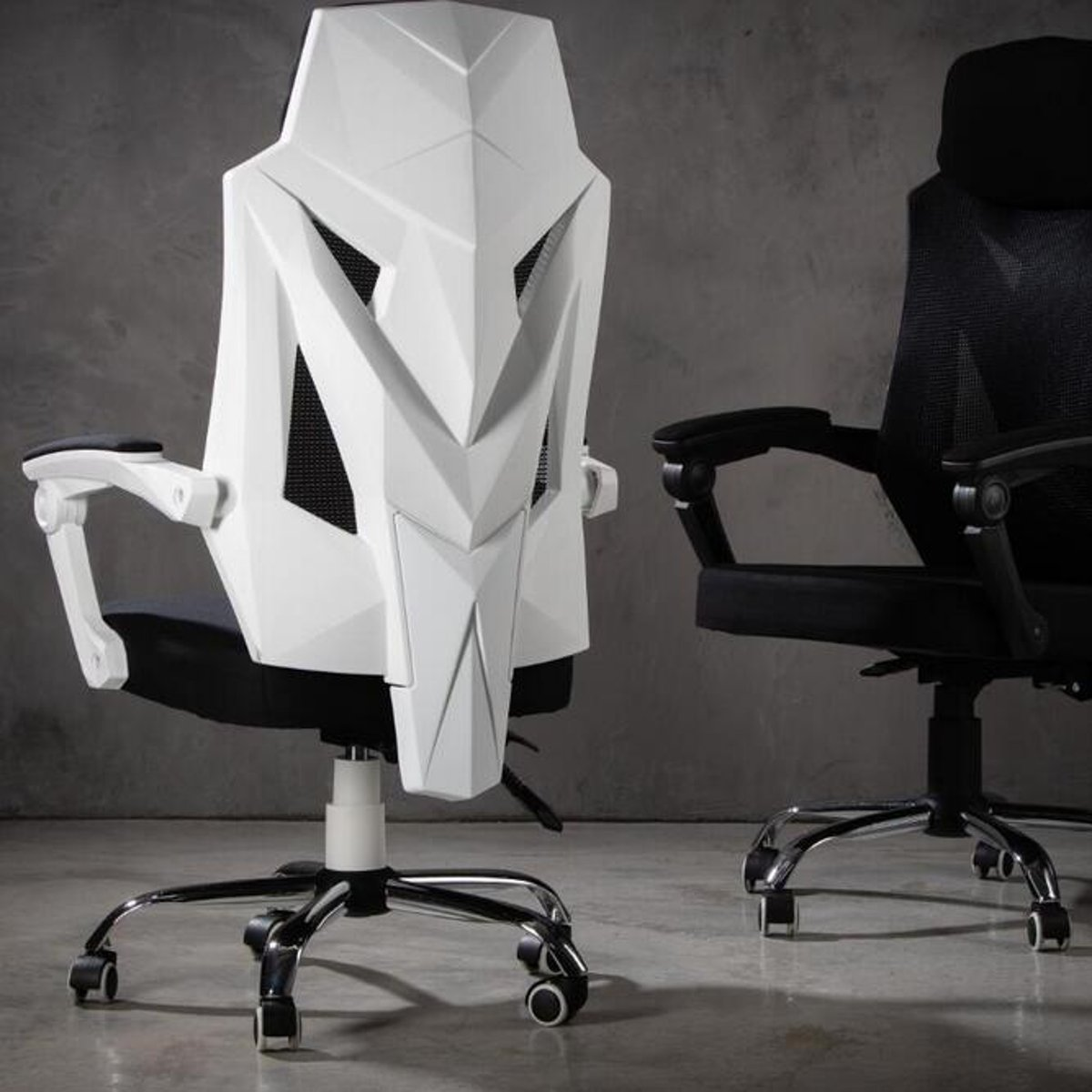 New Mesh Chair High Back Racing Gaming Chair Ergonomic Office School Chairs Recliner Seat With Footrest Computer Chair Furniture