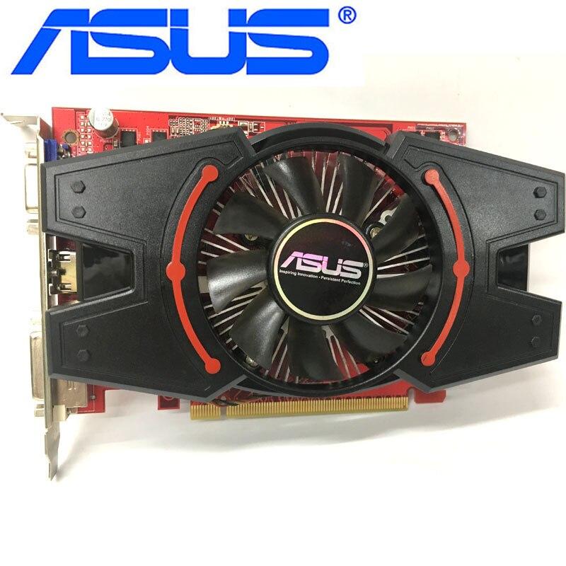 Видеокарта ASUS R7 250, 2 Гб, 650 бит, GDDR3, видеокарты для AMD Radeon R7250, VGA карты эквивалент GT730 GT630 GTX, б/у