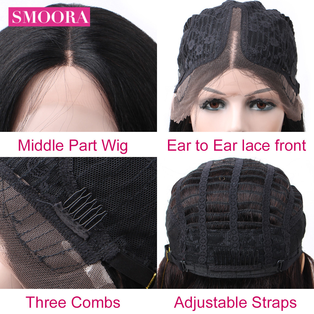 Deep Wave Lace Front  Wigs 13X1 Middle Part Lace Wig Pre Plucked With Baby Hair 150% Density 10-30Inch 5