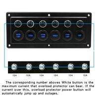 12V 24V LED Touch Screen Panel Waterproof Touch Control Panel Box with Switch for RV Cars Marines Ships