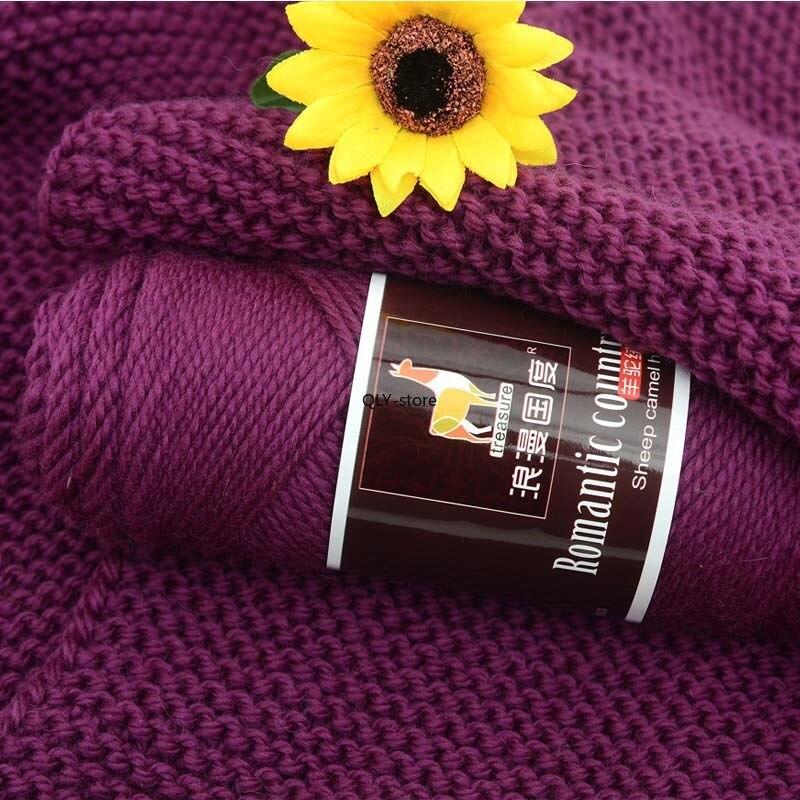 Массивный свитер из верблюжьей альпаки, 100 г, объемная толстая пряжа для рукоделия, оптовая продажа 4ply вязания крючком, продажа вязаной шерс...