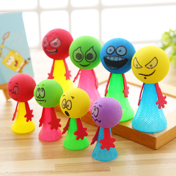 Children's gift decompression toy expression dolls trick people trick creative and fun small toys d ran wonder cream face