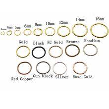 3, 4, 5, 6, 8, 10, 12, 14, 16 мм серебряные золотые прыгающие кольца с одной петлей, открытые прыгающие кольца и разъемные кольца, разъемы для самостоятельного поиска ювелирных изделий