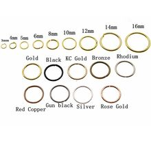 3 4 5 6 8 10 12 14 16 mm Silver Gold Jump Rings Single Loops Open Jump Rings & Split Rings Connectors for DIY Jewelry Finding