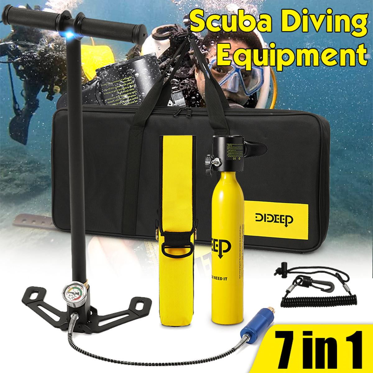 DIDEEP Diving System Mini Scuba Oxygen Cylinder Air Tank Scuba Reserve Air Tank Pump Snorkeling Gear Snorkeling Diving Equipment