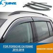Window deflectors for PORSCHE CAYENNE 2010 2018 rain guards for PORSCHE CAYENNE 2010 2011 2012 2013 2014 2015 2016 2018 SUNZ