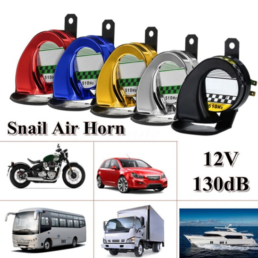 H8ea50be2df2449aaa217d8fee520a7ffi - Universal Horn Speeker 12V 130DB Waterproof Super Loud Car Motorcycle Motorbike Truck Boat Electric Loud Snail Air Horn Siren