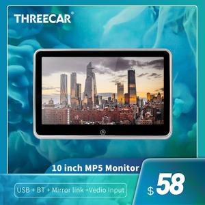 """10""""/9""""/8"""" HD Car Headrest Monitor Video Player USB/SD/FM TFT LCD Digital Screen Touch Button Game Remote Control Car MP5 Player(China)"""