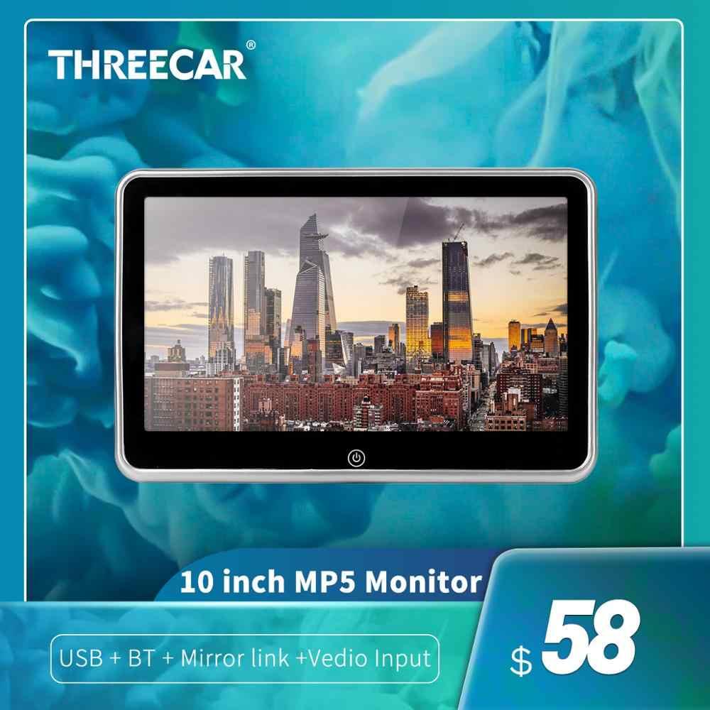 """10 """"HD سيارة راصد مسند الرأس DVD مشغل فيديو USB/SD/FM TFT LCD شاشة رقمية تعمل باللمس زر لعبة التحكم عن بعد سيارة MP5 لاعب"""