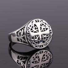 Мужское кольцо из цинкового сплава с крестом