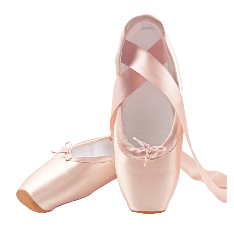 Yukigaga/профессиональные балетки; Женские танцевальные туфли с лентами для женщин и девочек; Детские Атласные балетки