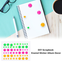 Bright Color Sugar Sprinkles Self-adhesive Enamel Dots Resin Sticker For DIY Scrapbooking Photo Album Cards Crafts Decor