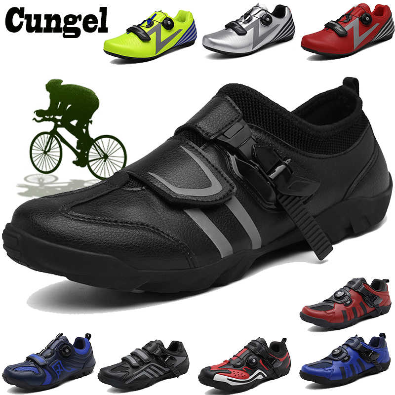Cungel Breathable Pro Self-Locking Cycling Shoes Road Bike Bicycle Shoes Ultralight Athletic Racing Sneakers Zapatos Ciclismo