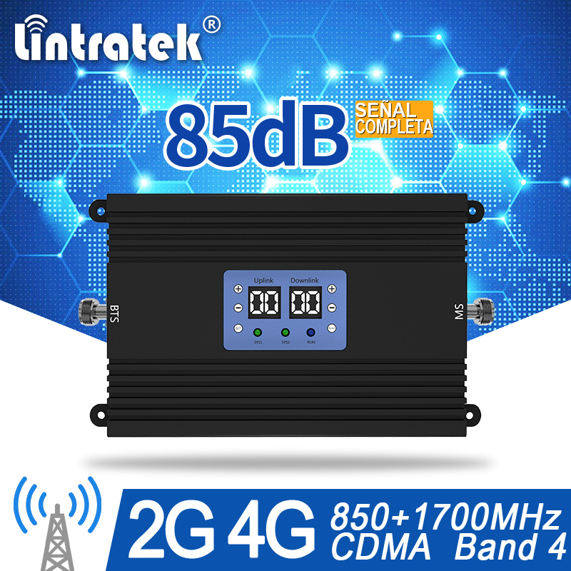 85db Amplificador De Señal CDMA 850 LTE 1700 Signal Booster Cellphone Signal Repeater LTE Amplifier Band 5 Band4 Booster #15