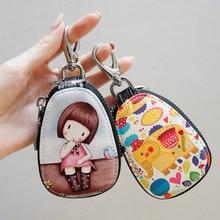 Key Key-Case Wallets Zipper Women Girl Fashion Cartoon for New Lovely Students