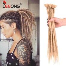 Leeons – Extensions de tresses synthétiques faites à la main, 10/20 brins, 20 pouces, noir, Reggae, tresses au Crochet, pour femmes et hommes Afro