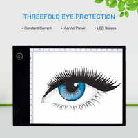 A5 LED Drawing Tablet Thin Art Stencil Drawing Board Graphics Tablet Light Box Tracing Table Pad Three-level Office Supplies