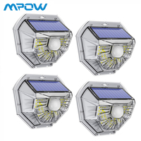 2Pcs/4Pcs Upgarded Solar Garden Light 40 LED Mpow IP67 Waterproof PIR Motion Sensor Light for Garage Yard Deck Pathway Garden