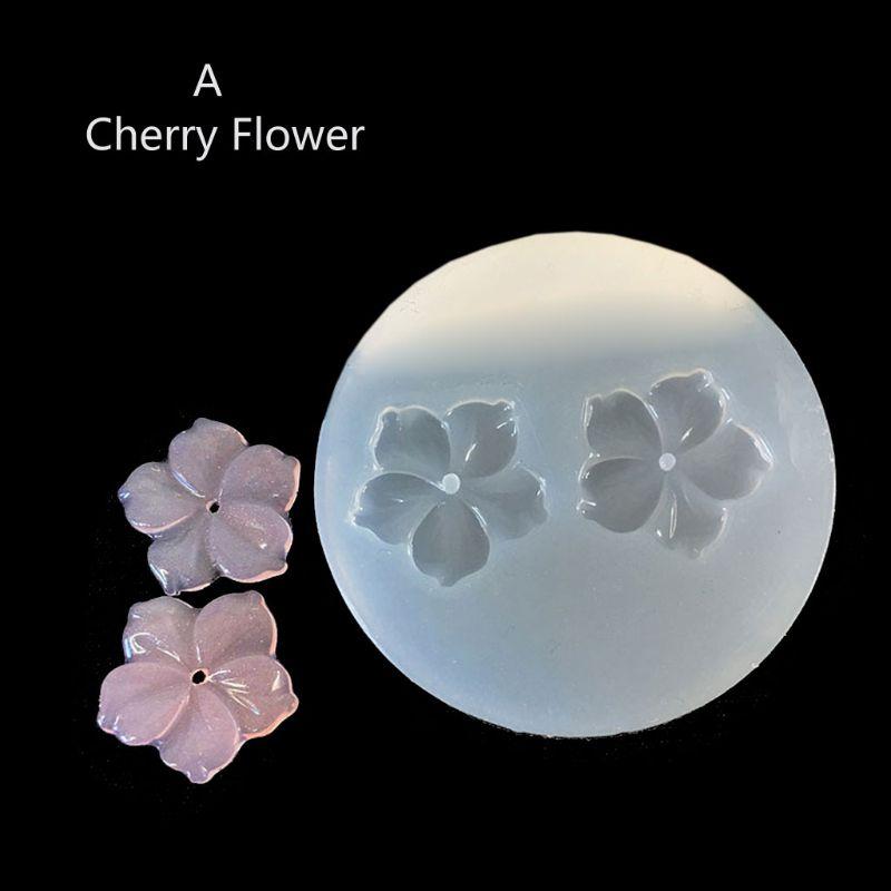 DIY Flower Silicone Molds Resin Camellia Peony Daisy Lotus Flower Jewlery Making