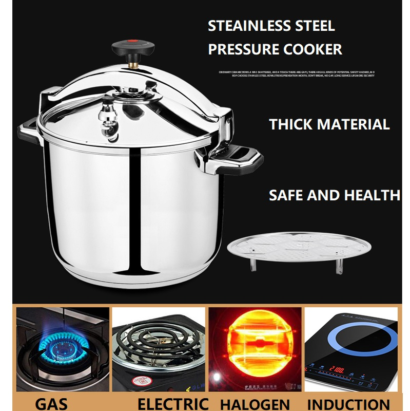 3-30 litre Commercial Inox Pressure Cooker #304 stainless steel Cooking Pressure Cooker Large Hotal Induction cooker 1