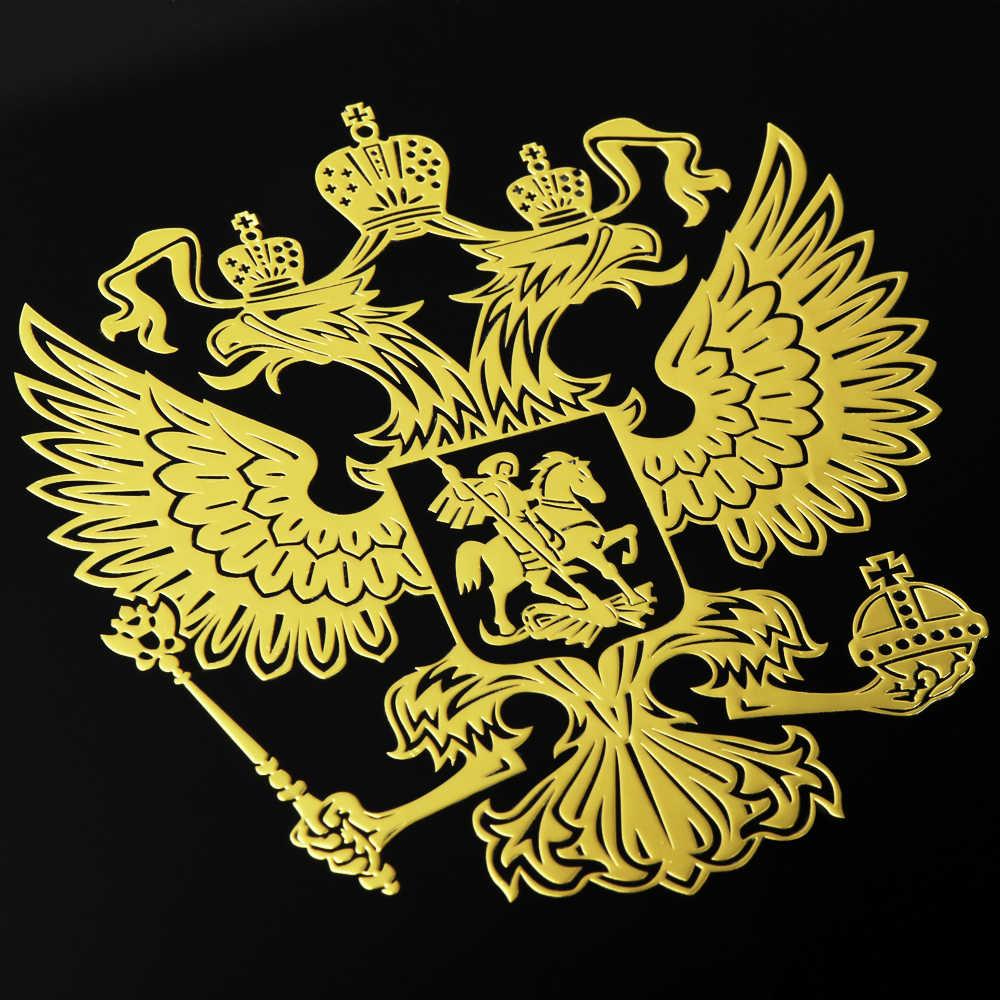 Coat of Arms of Russia Nickel Car Stickers for Lada Granta Xray Vesta For Kia Rio Solaris Creta For Golf Polo