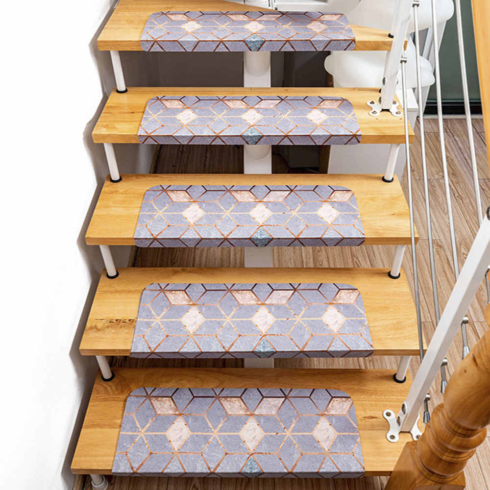 1Pc Self Adhesive Non Slip Carpet Stair Treads Mats Rug Cover Pad   Non Slip Carpet For Stairs   Trim   Laminate   Wood End Cap   Step   Rubberized