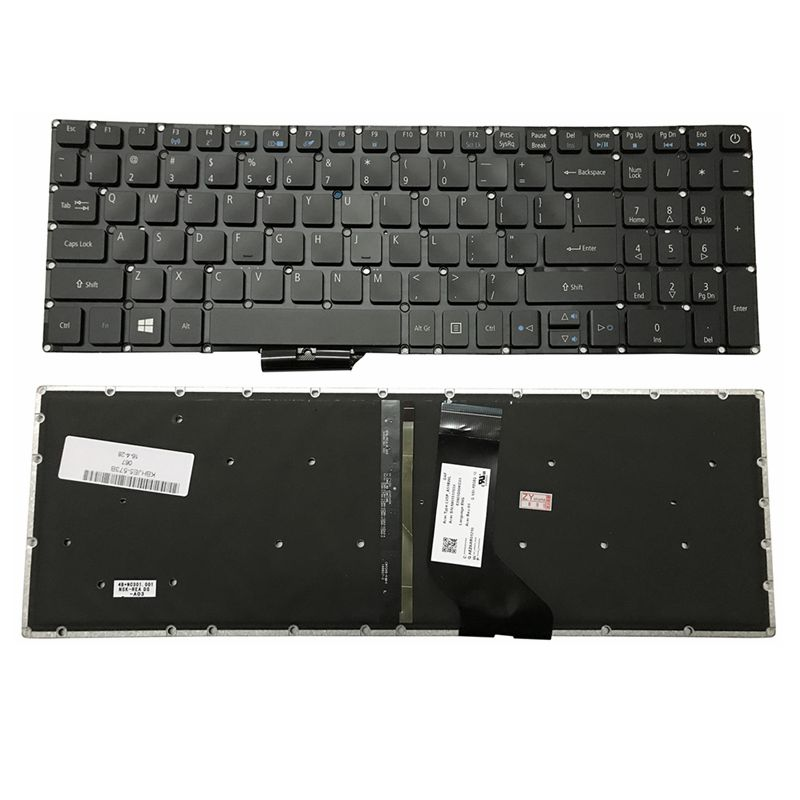 GZEELE Novo para Acer Aspire E5-532 E5-573 E5-574 E5-722 E5-752 E5-772 E5-773 E5-575 E5-722G Teclado Inglês EUA retroiluminado backlight