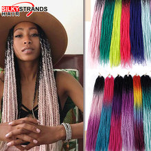 Synthetic Pre Stretched Senegalese Twist Crochet Hair Braids