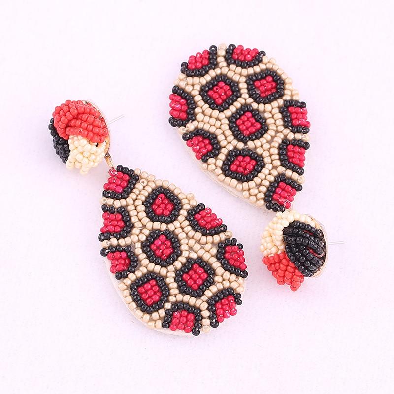 Earrings for women boho drop earrings red oorbellen 1