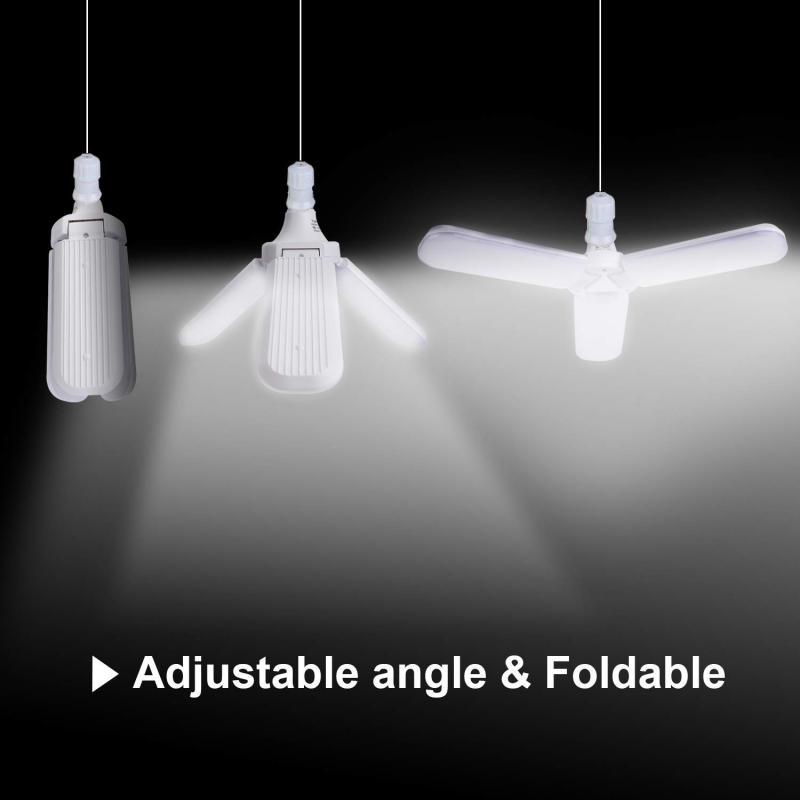 Super Bright 85-265V 60W 6000lm E27 Led Fan Garage Light Industrial Lighting Led High Bay Industrial Lamp For Workshop Office