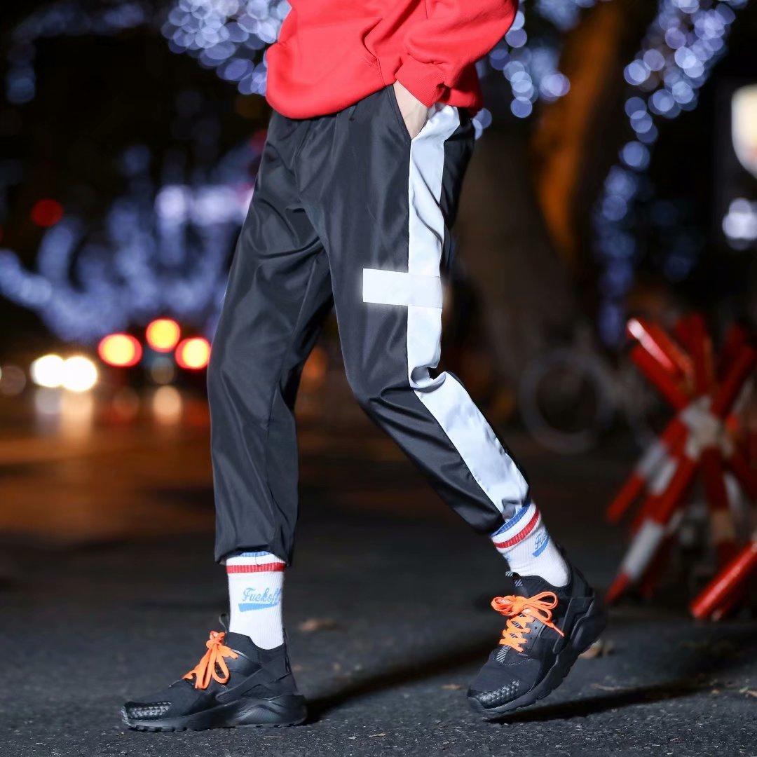 Autumn Super Fire Athletic Pants Men's Trend Loose-Fit Men's Casual Capri Pants National Trends Ankle Banded Pants Hip Hop Fan G