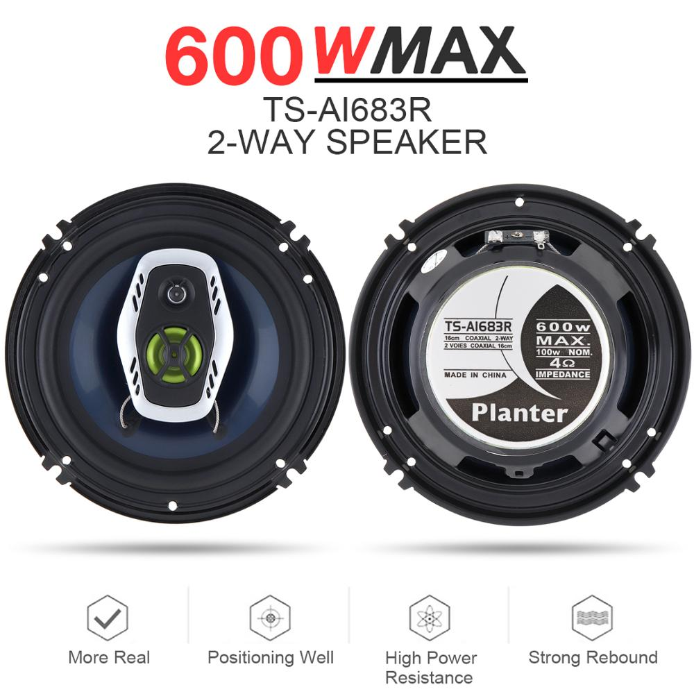 2pcs 6 5 Inch 16cm 600W 2 Way Universal Car Coaxial Hifi Speakers Auto Audio Music Stereo Speaker Non-destructive Installation