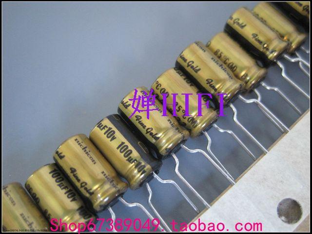 20PCS NICHICON FG 10V 100UF 6,3x11 MM feine gold 100UF 10V FineGold MUSE audio Kondensator 100 uf10v 10 V/100 UF