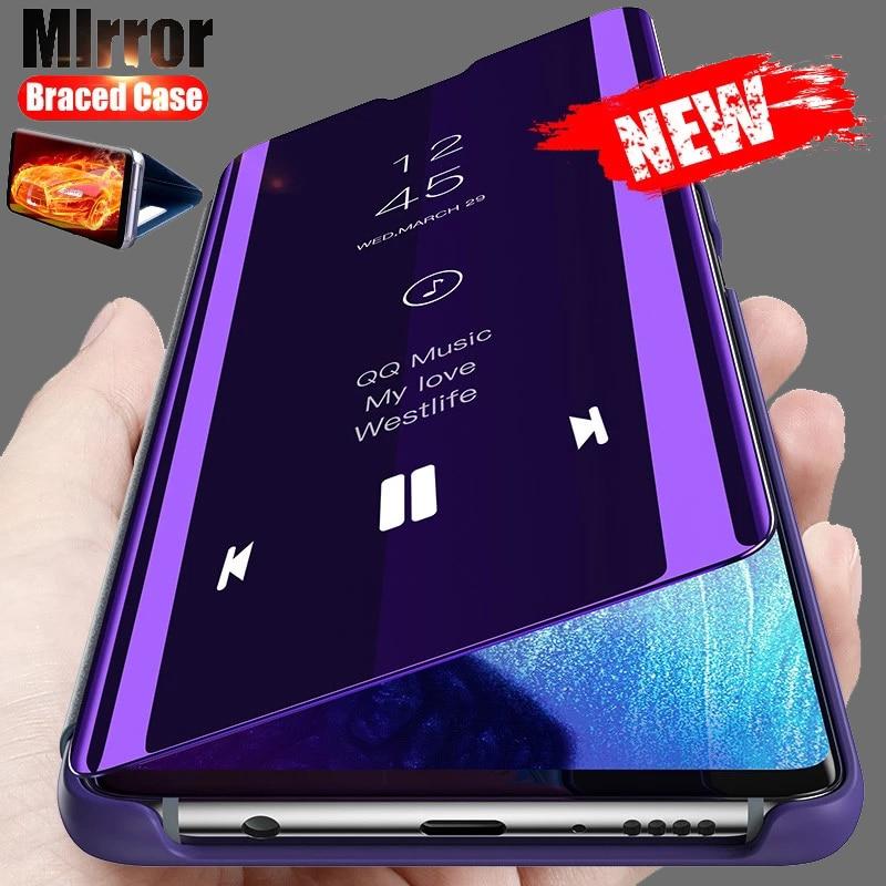 Smart Mirror Flip Cover Case For Samsung Galaxy S20 A50 A71 A81 A91 A51 A70 Note 20 S10 S9 S8 Plus Pro M51 FE A20 A30 A31 Cover