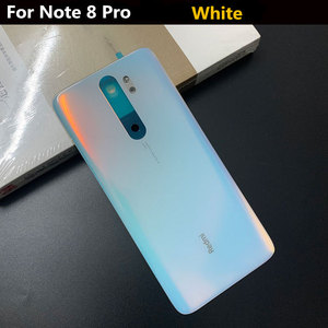 Image 3 - Original Tempered Glass For Redmi Note 8 Battery Back Cover Door Case For Xiaomi Redmi Note 8 Pro Spare Parts Battery Cover