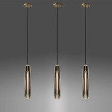 Хрустальный роскошный светодиодный подвесной светильник для столовой, бара, комнатная Подвесная лампа, Современная Подвесная лампа E14, подвесной светильник с одной головкой для дома