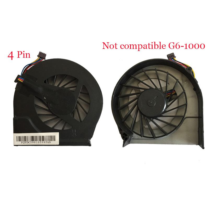 Laptop cooling fan for HP Pavilion G4 G4-2000 G7 g7-2000 G6 G6-2000 683193-001 685477-001 FAR3300EPA fan and kipo 4pins image