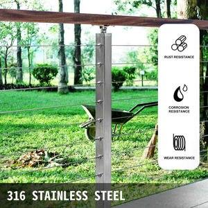 Image 2 - 1/8in x 500ft paslanmaz çelik kablo korkuluk 7x7 iplikçikler İnşaat güverte ray korkuluk merdiven küpeşte sundurma tel çit halat