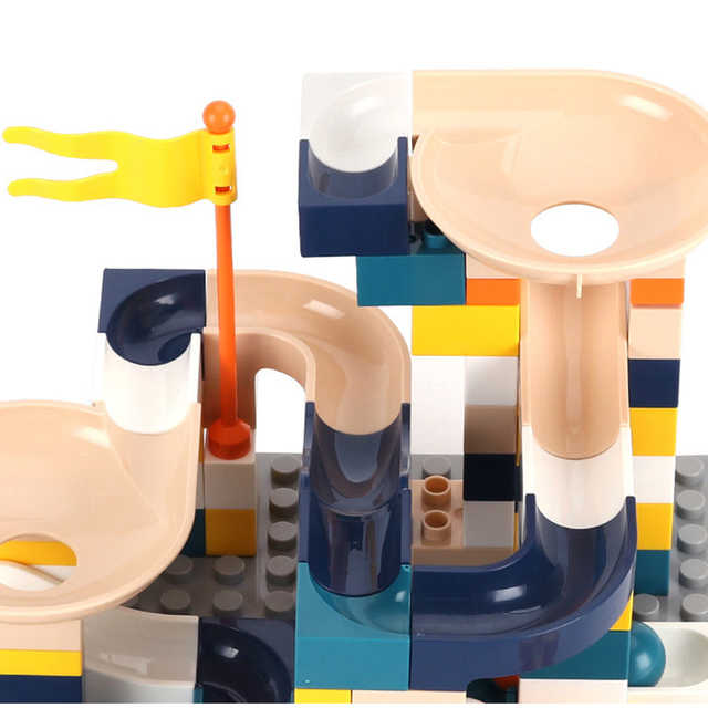 76 pcs Big Particle Building Blocks Funnel Slide Blocks DIY Bricks Toys For Children