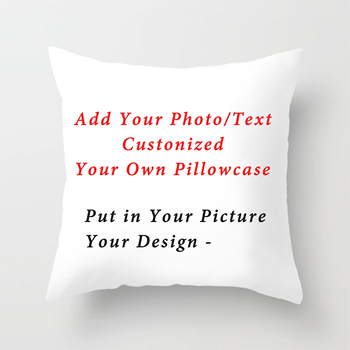 RULDGEE 2020 New Design Picture Print Pet Wedding Personal Life Photos Customize Gift Home Cushion Cover Pillowcase Pillow Cover fuwatacchi design picture here print