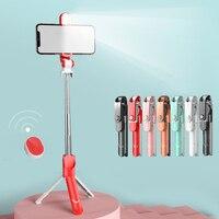 Selfie Stick con luce di riempimento supporto per treppiede allungabile portatile per Selfie con telecomando per smartphone Iphone Outdoor Live