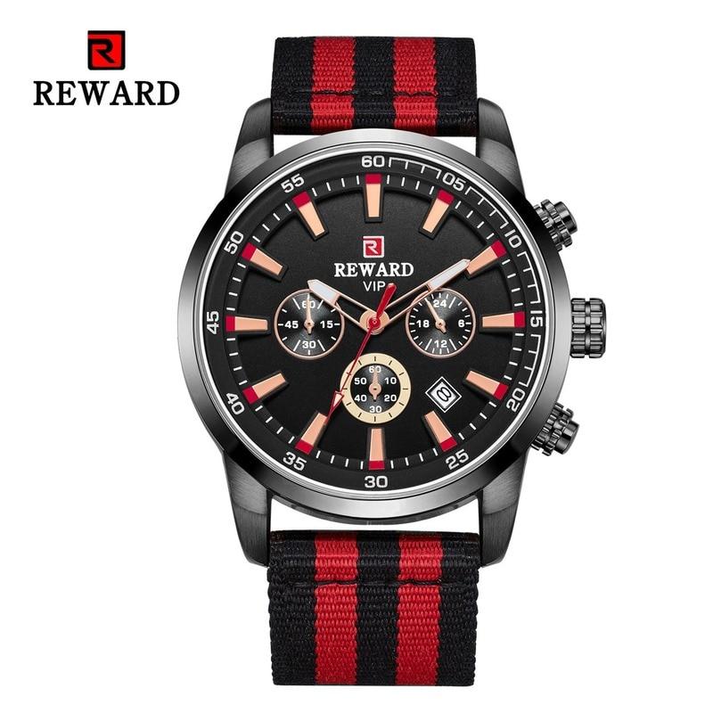 Наградные спортивные кварцевые часы для мужчин, большой чехол, военные мужские часы, Топ бренд, Роскошные, Холщовый ремешок, 2 часовых пояса