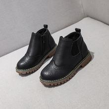 Новинка 2020 Кожаные Ботинки martin для девочек детская зимняя