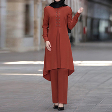 Ramadan Eid Mubarak Dubai Abaya Turkey Hijab Muslim Dress Sets Islam Clothing For Women Musulman Ensembles Kaftan Robe Femme