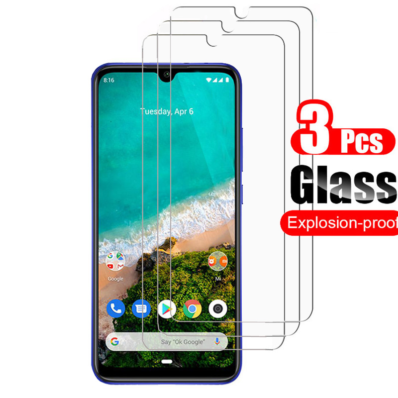 3Pcs For Xiaomi Mi A3 MiA3 Tempered Glass Screen Protector Shield For Xiaomi Mi A3 Protective Glass Film 9H 0.26mm