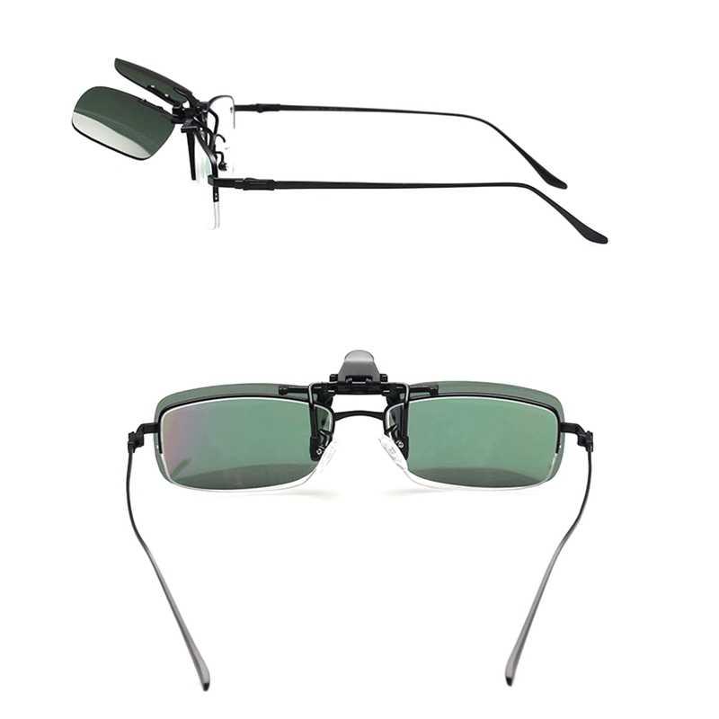 سيارة ليلة نظارات للقيادة الاستقطاب كليب على النظارات الشمسية للرجال النساء للرؤية الليلية نظارات مكافحة وهج UVA سائق نظارات حملق
