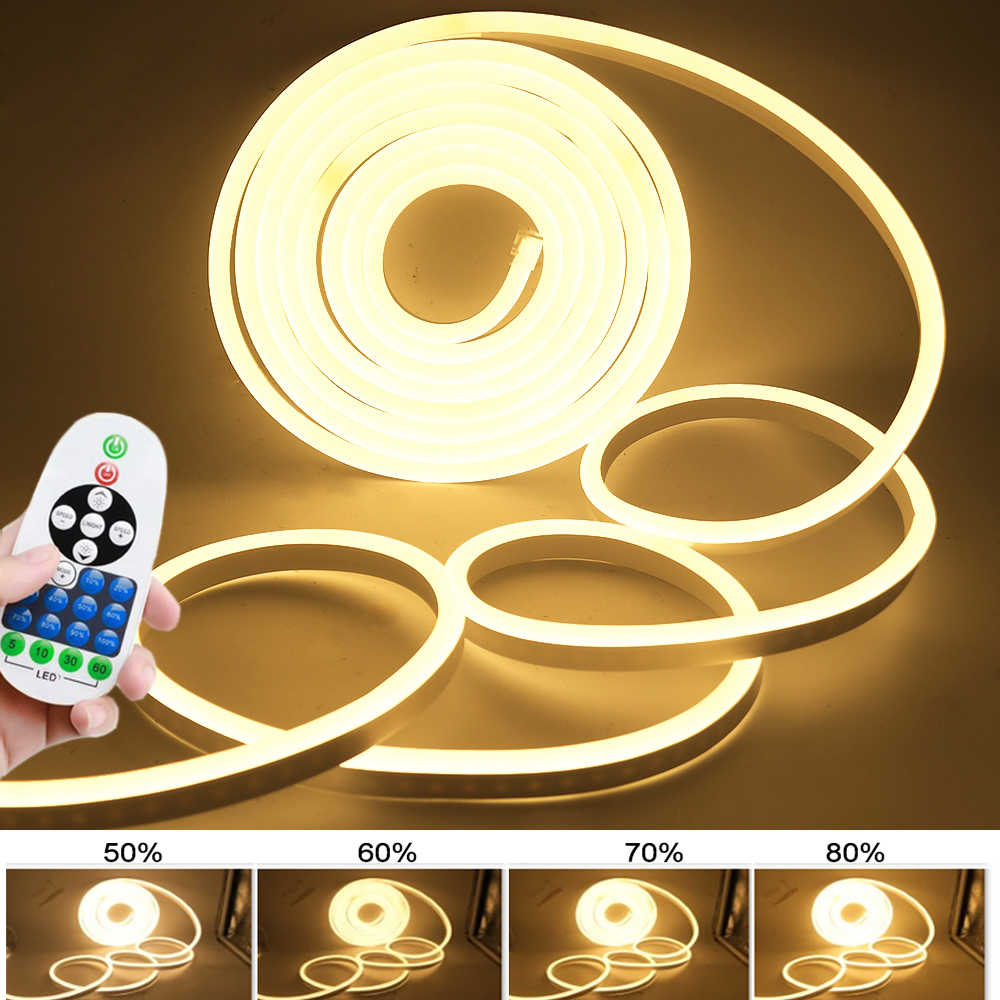 220 V DEL NEON FLEX corde bande de lumière signe extérieur étanche 15 x 25 mm Lights