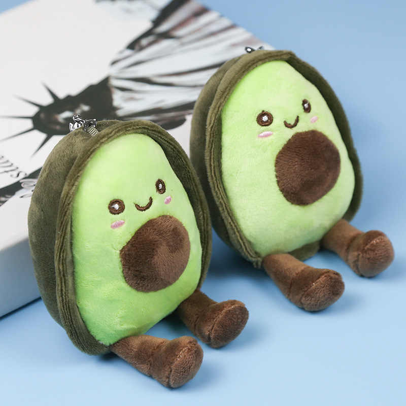 15cm Avocado Keychain Fruits Stuffed Plush Toy Filled Doll Key ring Cushion Pillow Child Child Christmas Gift Girl Baby Girl