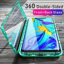 Magnetic Double Glass Case For Hauwei Hawei Huawei P30 Pro P 30 Lite 30Lite Light Nova 5T 5 T T5 Tempered Glass 360° Full Cover(China)
